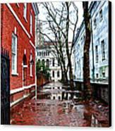 Rainy Philadelphia Alley Canvas Print by Bill Cannon