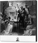 Reading Emancipation Proclamation Canvas Print