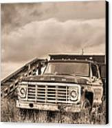 Ready For The Harvest Sepia Canvas Print