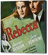 Rebecca, Joan Fontaine, Laurence Canvas Print by Everett