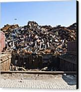 Recycle Dump Site Or Yard For Steel Canvas Print