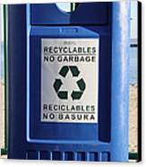 Recycling Bin Canvas Print by Photo Researchers, Inc.