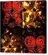 Red And White Wine Collage Canvas Print