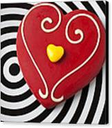 Red And Yellow Heart Canvas Print by Garry Gay