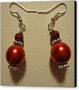Red Ball Drop Earrings Canvas Print