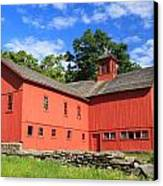 Red Barn At Bryant Homestead Canvas Print by John Burk