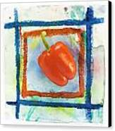 Red Bell Pepper Canvas Print