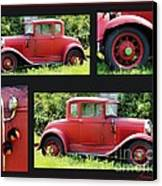 Red Car Canvas Print by Lorraine Louwerse