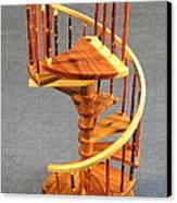 Red Cedar Rustic Spiral Stairs Canvas Print