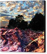 Red Cliff Sunset Canvas Print by Ric Soulen