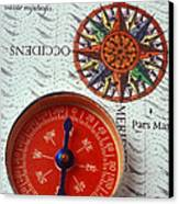 Red Compass And Rose Compass Canvas Print