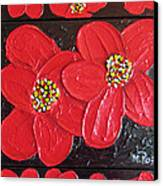 Red Flowers Canvas Print by Merlene Pozzi