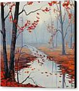 Red Leaves Canvas Print by Graham Gercken