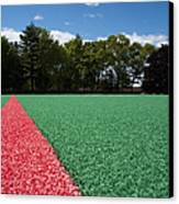 Red Line On An Athletic Field Canvas Print