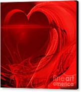 Red Love . Square . A120423.279 Canvas Print by Wingsdomain Art and Photography