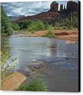 Red Rock Crossing In Sedona, Arizona Canvas Print by David Edwards