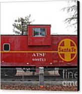 Red Sante Fe Caboose Train . 7d10328 Canvas Print