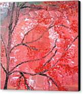 Red Tree Canvas Print by Pretchill Smith
