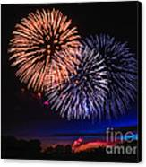 Red White And Blue Canvas Print by Robert Bales