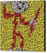 Reddy Kilowatt Bottle Cap Mosaic Canvas Print by Paul Van Scott