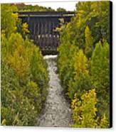Redridge Steel Dam 7844 Canvas Print by Michael Peychich