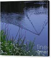 Reeling In The Lure Canvas Print by Sandy Owens