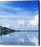 Reflection Of Clouds In Water, Lough Canvas Print by The Irish Image Collection