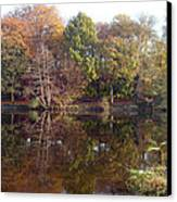 Reflections Of Autumn Canvas Print by Rod Johnson