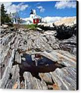 Reflections Of Pemaquid Canvas Print by Brenda Giasson