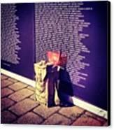 Relica #vietnammemorial Wall In Canvas Print