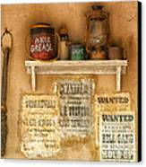 Relics Of The Old West Canvas Print