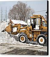 Removing Snow Canvas Print by Ted Kinsman