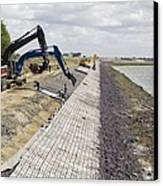 Renewing Shore Defences, Netherlands Canvas Print by Colin Cuthbert