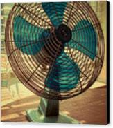Retro Fan Canvas Print by Tony Grider