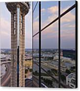 Reunion Tower Canvas Print by Jeremy Woodhouse