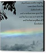 Revelation 10 Rainbow Canvas Print by Cindy Wright