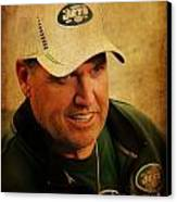 Rex Ryan - New York Jets Canvas Print
