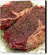 Ribeye Steak... Carnivore Eye Candy Canvas Print by James Temple
