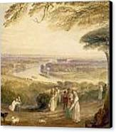 Richmond Terrace Canvas Print by Joseph Mallord William Turner