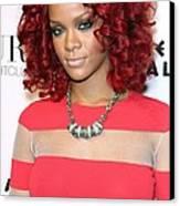 Rihanna In Attendance For Rihanna New Canvas Print by Everett