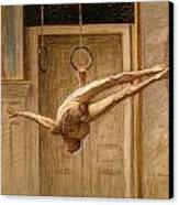 Ring Gymnast No 2 Canvas Print by Eugene Jansson
