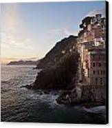 Riomaggio Sunset Canvas Print by Mike Reid