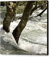 River Manavgat In Flood Canvas Print