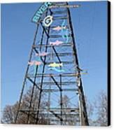 River Walk Tower Sign In West Sacramento California . 7d11400 Canvas Print