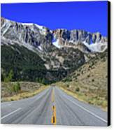 Road Marking On Road Canvas Print