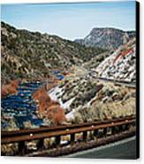 Road To Taos Village 1 Canvas Print by Lisa  Spencer