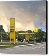 Roadside Gas Station Canvas Print by Jaak Nilson