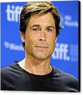 Rob Lowe At The Press Conference Canvas Print
