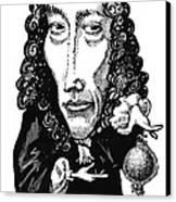 Robert Boyle, Caricature Canvas Print