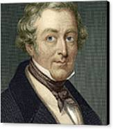 Robert Peel, British Prime Minister Canvas Print by Sheila Terry